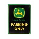 Bord John Deere parking only TTF8157 TractorFreak